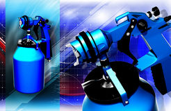 Nozzle spray gun Royalty Free Stock Photography