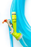 nozzle with water hose Royalty Free Stock Image