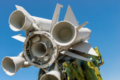Nozzles missile anti-aircraft missile system Stock Photos