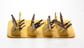 Nozzles for a screwdriver. On a white background/nozzle on the screwdriver/isolated objects Stock Photography