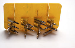 Nozzles for a screwdriver. On a white background/nozzle on the screwdriver/isolated objects Stock Photo
