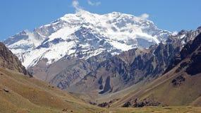 NP阿空加瓜,安地斯山,阿根廷 免版税库存照片