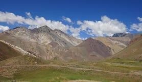 NP Aconcagua, Andes berg, Argentina Fotografering för Bildbyråer