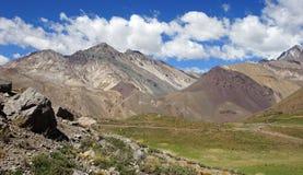 NP Aconcagua, Andes berg, Argentina Royaltyfri Foto