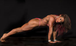 2015 NPC Universe Championships. Kelly Diffenderfer showed nifty moves and fabulous form as she captured first place in the Women's Physique Open B class at the royalty free stock photography
