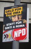 NPD election poster Royalty Free Stock Photo