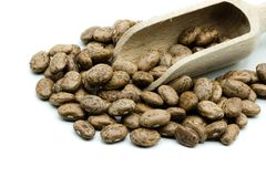 Pinto beans pile isolated on white background royalty free stock photography