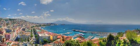 Nápoles, la bahía Fotos de archivo