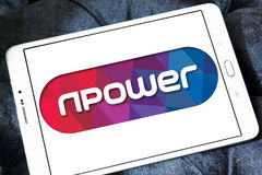 Npower energy company logo. Logo of energy and home services company npower on samsung tablet royalty free stock photos