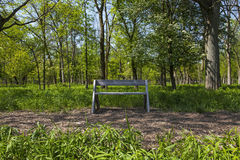 NPV Nature Center Wooden Bench Along the Path Stock Images