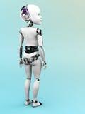 Nr 2 ребенка робота стоящее Стоковое Изображение