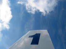 Nr. 1 en el cielo imagen de archivo libre de regalías
