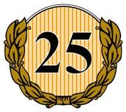 Nr. 25 mit Lorbeerurlaub Lizenzfreie Stockbilder