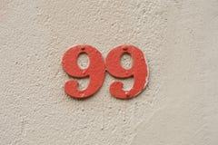 Nr. 99 stockfotos