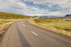Nr 60 трассы - Исландия. Стоковое Фото