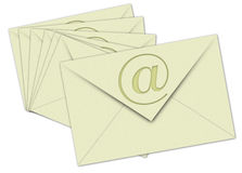 Nr. 7 Email on White background Stock Images