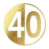 Nr. 40 lizenzfreie abbildung
