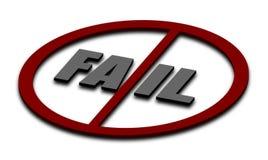 Nr aan mislukkingen stock illustratie