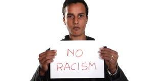 Nr aan Racisme Engelse versie stock footage
