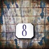 Nr. acht auf hölzernem Hintergrund Lizenzfreie Stockfotografie