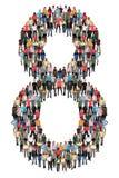 Nr. acht 8 Gruppe von Personen Lizenzfreie Stockfotos
