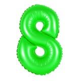 Nr. 8 acht vom Ballongrün Lizenzfreies Stockbild
