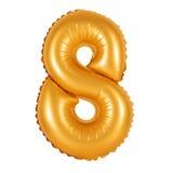 Nr. 8 acht von den Ballonen orange Stockfotografie