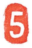 Nr. 5 auf orange Sand stock abbildung