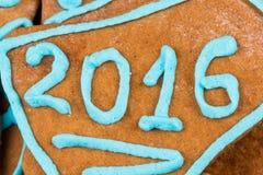 Nr. 2015 auf Plätzchen Stockbild