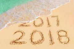 Nr. 2018 auf Strand Lizenzfreie Stockfotos