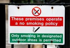 Nr dat - op gebouw rookt Royalty-vrije Stock Afbeeldingen