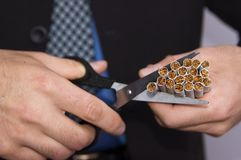 Nr dat - rookt! Stock Foto