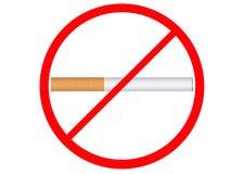 Nr dat - rookt! Stock Afbeelding