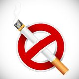 Nr dat - rookt Stock Foto