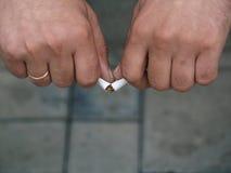 Nr dat - rookt Royalty-vrije Stock Foto's
