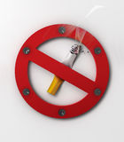Nr dat - rookt Royalty-vrije Stock Afbeeldingen