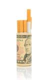 Nr dat - rookt. Het concept - dure gewoonte. Stock Foto's