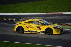 Nr del coche de la taza de Lamera 16 - Monza 2014 8 horas de raza Foto de archivo