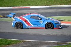 Nr del coche de la taza de Lamera 10 - Monza 2014 8 horas de raza Foto de archivo libre de regalías