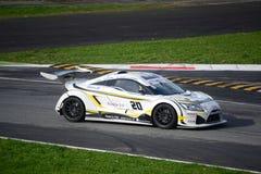 Nr del coche de la taza de Lamera 20 - Monza 2014 8 horas de raza Imágenes de archivo libres de regalías