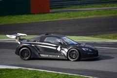 Nr del coche de la taza de Lamera 4 - Monza 2014 8 horas de raza Imágenes de archivo libres de regalías
