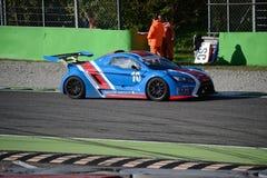 Nr del coche de la taza de Lamera 10 - Monza 2014 8 horas de raza Fotografía de archivo