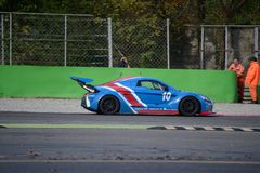 Nr del coche de la taza de Lamera 10 - Monza 2014 8 horas de raza Imagenes de archivo