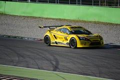 Nr del coche de la taza de Lamera 16 - Monza 2014 8 horas de raza Imagen de archivo libre de regalías