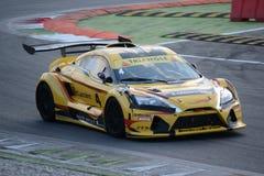 Nr del coche de la taza de Lamera 4 - Monza 2014 8 horas de raza Foto de archivo