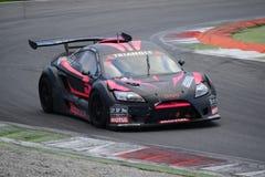 Nr del coche de la taza de Lamera 5 - Monza 2014 8 horas de raza Foto de archivo libre de regalías