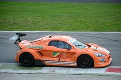 Nr del coche de la taza de Lamera 2 - Monza 2014 8 horas de raza Imagen de archivo libre de regalías