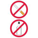 Nr die - Geen het drinken roken Stock Foto's