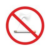 Nr die - roken Royalty-vrije Stock Afbeelding