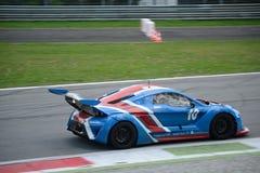 Nr do carro do copo de Lamera 10 - Monza 2014 8 horas de raça Fotografia de Stock Royalty Free